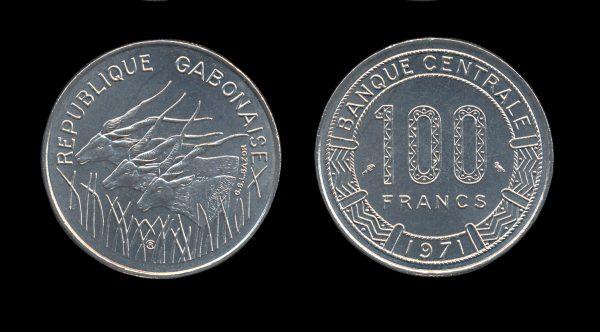 GABON 100 francs 1971