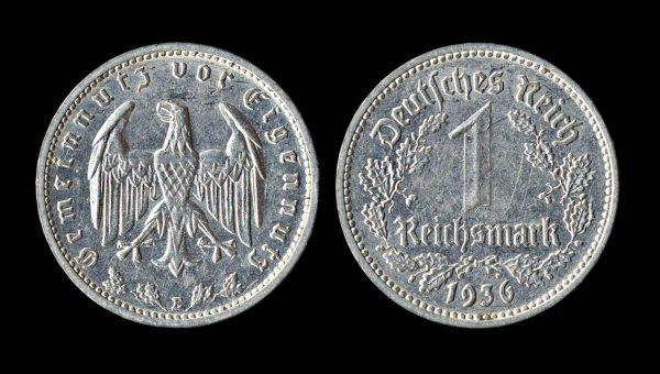 GERMANY 1 mark 1936 E