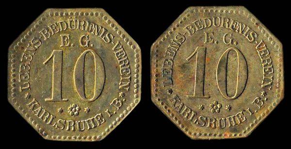 GERMANY KARLSRUHE club token circa 1910
