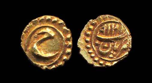 INDIA MYSORE Tipu Sultan 1787-99 gold fanam 1218 AM (1789 AD) Patan mint