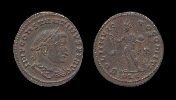 ROMAN EMPIRE Constantine I 307-337 AD follis Lugdunum mint