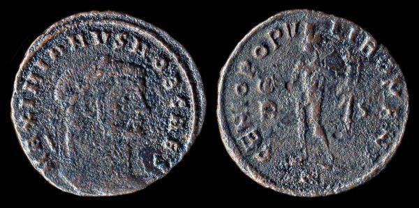 ROMAN EMPIRE Galerius Caesar 293-305 AD follis Rome mint