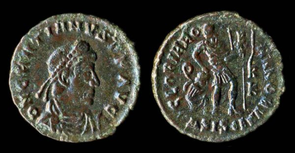ROMAN EMPIRE Gratian 367-383 AD centenionalis Siscia