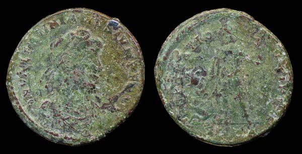 ROMAN EMPIRE Valentinian II 375-392 AD maiorina Nicomedia mint