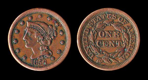 USA large cent 1856