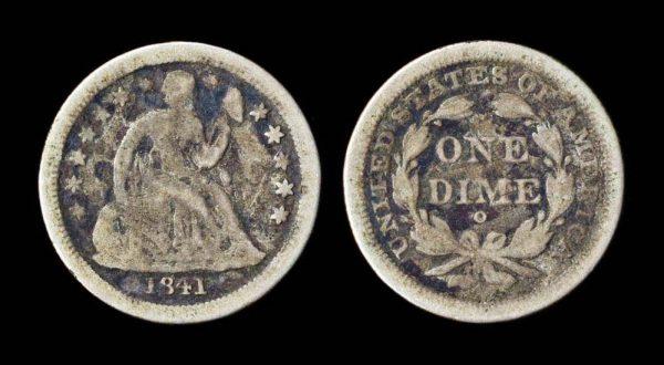 USA 10 cents 1841 O