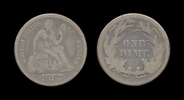 USA 10 cents 1887
