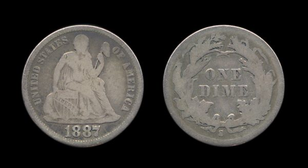USA 10 cents 1887 S