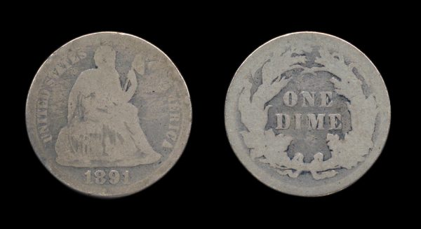 USA 10 cents 1891