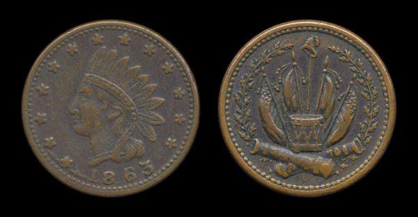 USA Civil War token 1863 patriotic