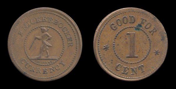 USA Civil War token KNICKERBOCKER CURRENCY