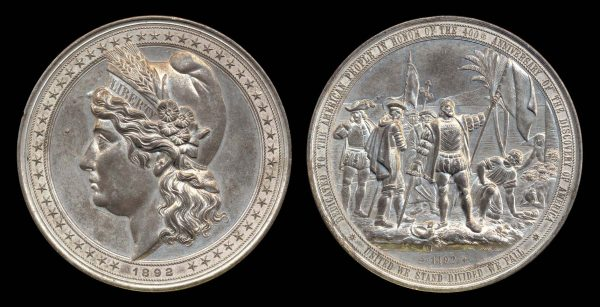 USA large Columbian Exposition medal 1892