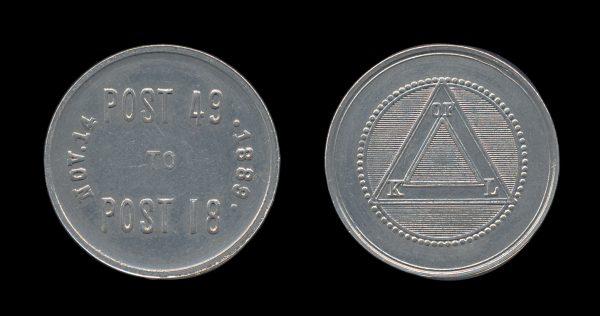 USA 1889 Knights of Labor token
