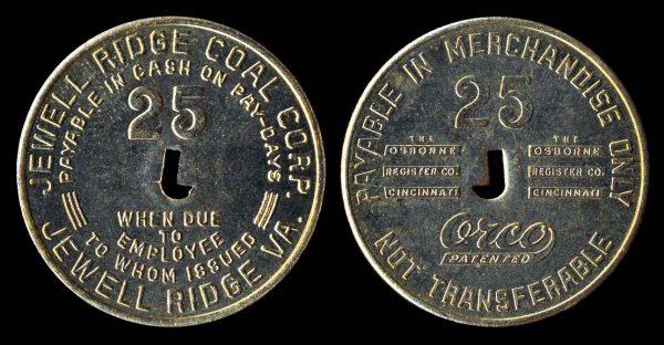 USA VIRGINIA scrip JEWELL RIDGE COAL CORP