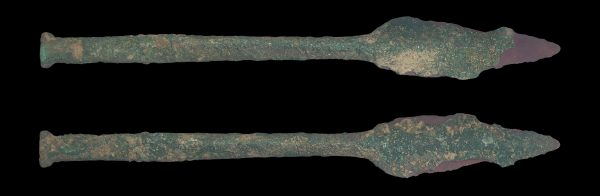 ANCIENT BAKTRIAN BRONZE SHORT HANDLED SPEAR