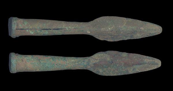 ANCIENT BAKTRIAN BRONZE SPEAR HEAD