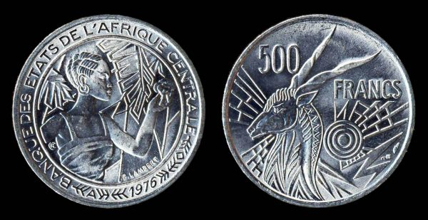 CENTRAL AFRICAN STATES 500 francs 1976 A Paris