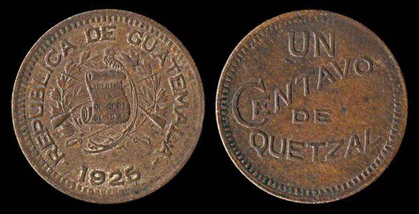 GUATEMALA 1 centavo 1925