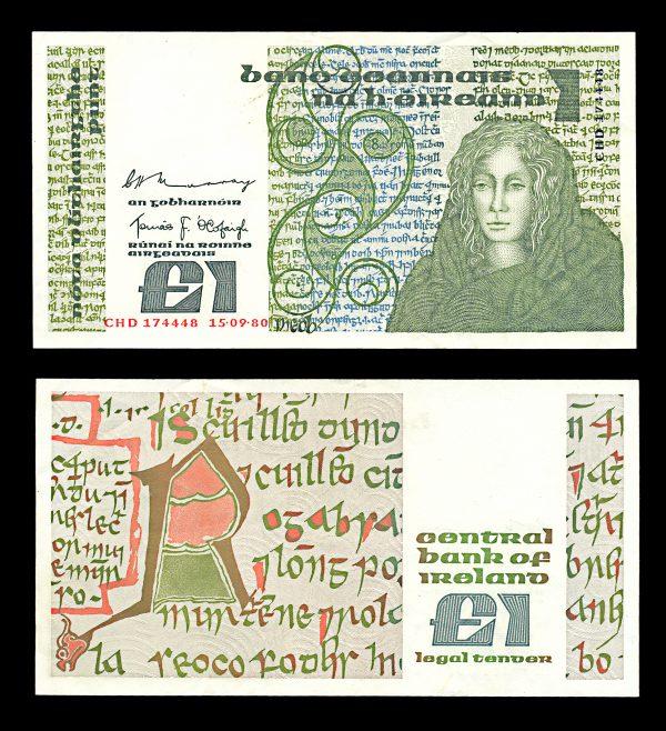 IRELAND 1 pound 15.9.1980 Queen Maeve