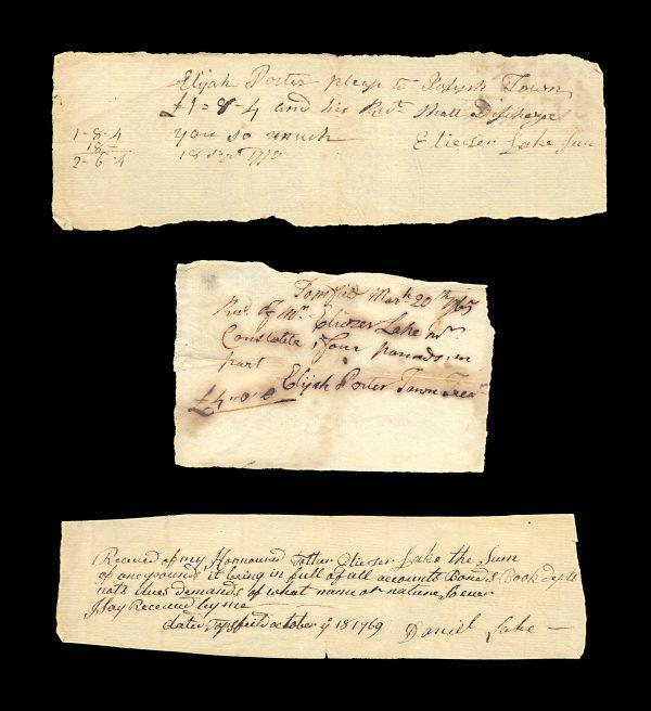 USA MASSACHUSETTS 18th century fiscal documents lot