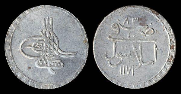 TURKEY 1 kurush (11)83 AH (1771 AD)