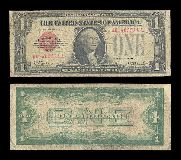 USA United States Note 1 dollar 1928 red seal