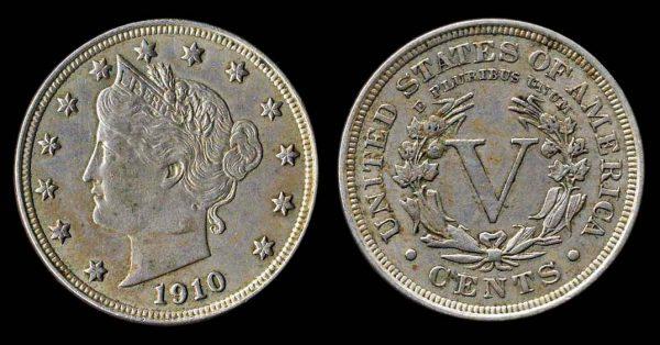 USA Liberty 5 cents 1910