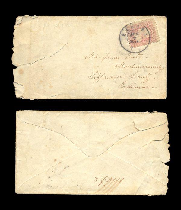 USA postal cover 1864