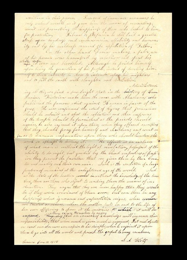 Geneva (NY?) 1838