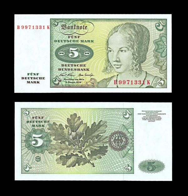 WEST GERMANY 5 deutsche mark 2.1.1970